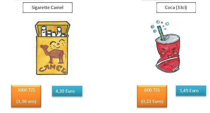 Paragone prezzi alcuni beni di consumo Italia-Tanzania