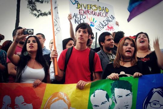 Marcia per Daniel Zamudio, Santiago del Chile, 2012, foto di Juan Catepillan slds (http://www.flickr.com/photos/chilefotojp)