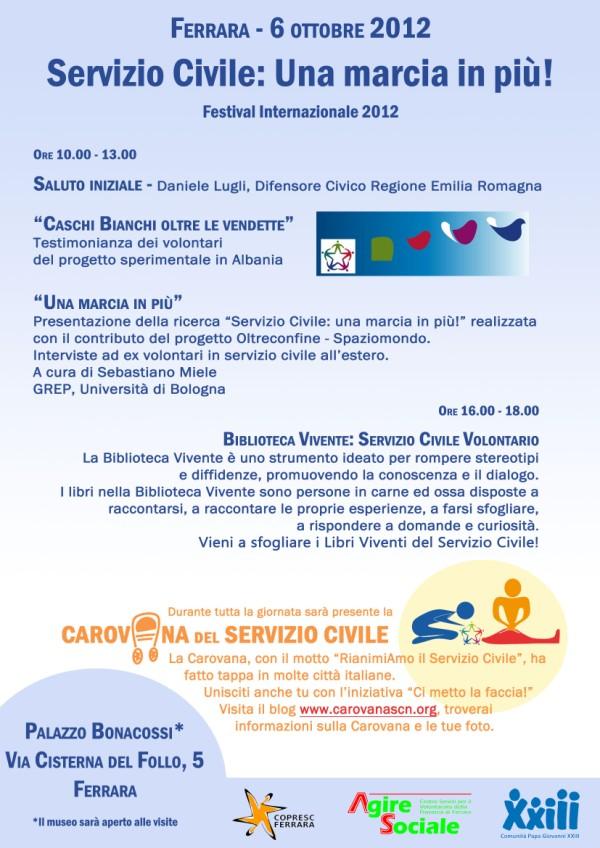 Volantino Ferrara 6 Ottobre 2012