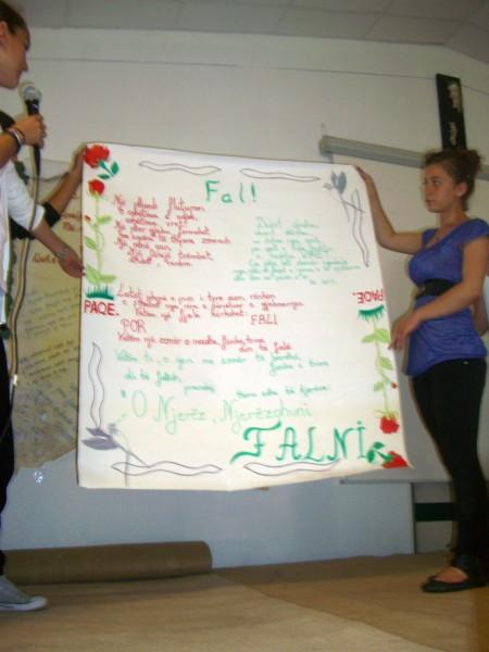 Attività di sensibilizzazione a scuola, Albania, 2012, foto di Ilaria Zomer, CB Oltre le vendette