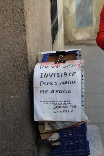 In strada a Madrid, foto di Angela Santoro, CB Apg23, Spagna, 2012