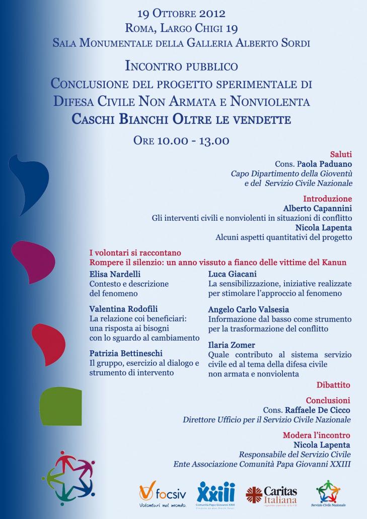 Volantino Incontro pubblico Roma 19 Ottobre