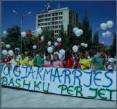 Manifestazione contro la gjakmarrjes