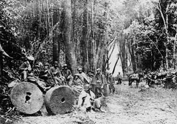 Le truppe del colonnello Urrutia durante l'occupazione e ricostruzione di Villarrica del 1883