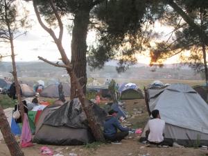 Campo profughi di Idomeni