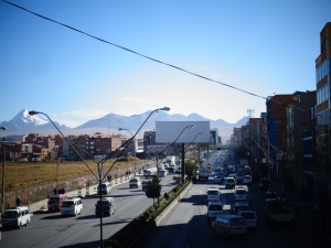 Il traffico di El Alto