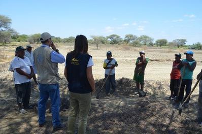 Arianna, impegnata nelle sue attività relative al conflitto ambientale in Peru