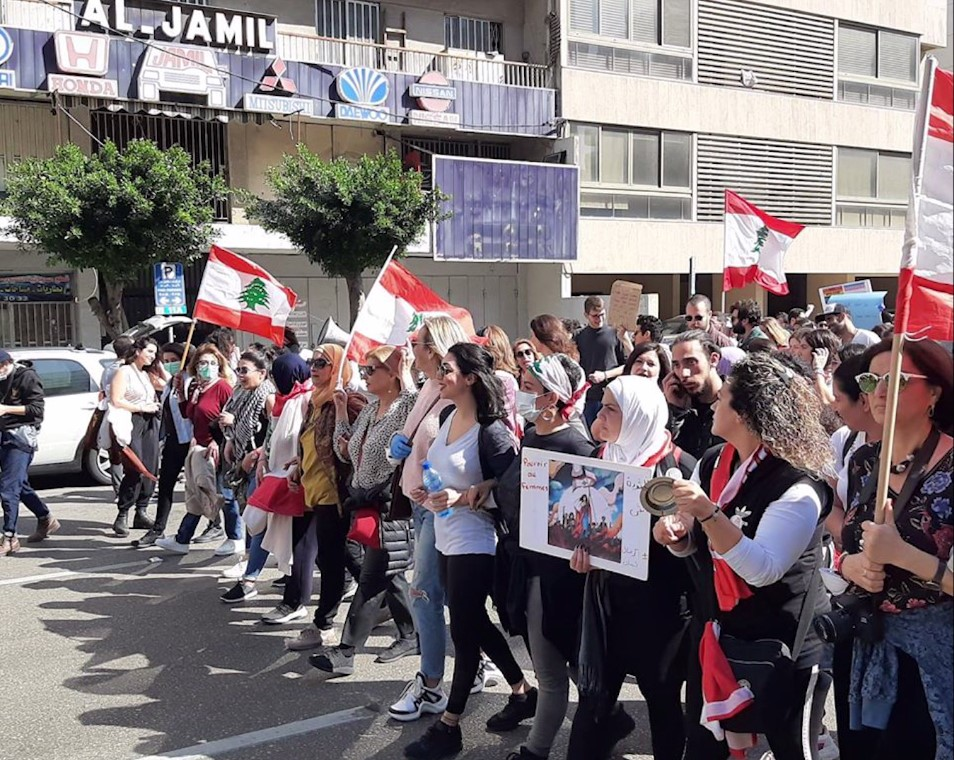 Libano_Beirut_corteo